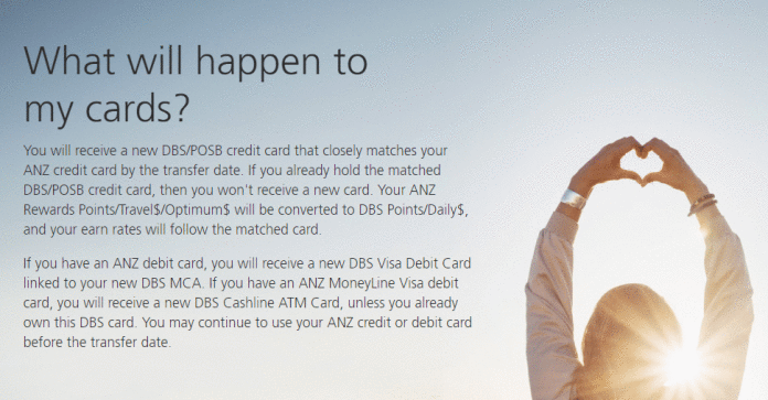 DBS announces points conversion, mapping for ANZ credit ...