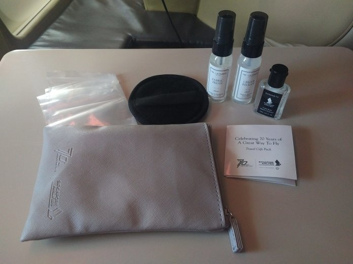 Singapore Airlines 70th Anniversary Amenities Kit