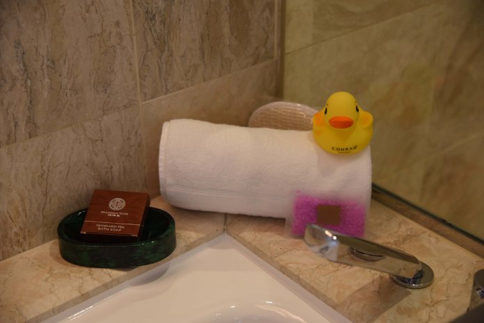 Conrad duck and bath salts