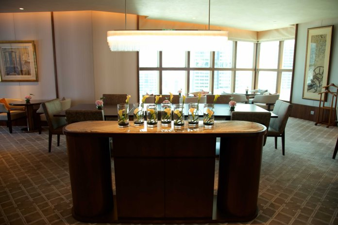 Long table seating in main Club lounge area