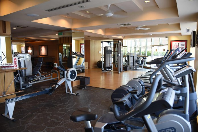 The gym, due for a renovation later this year