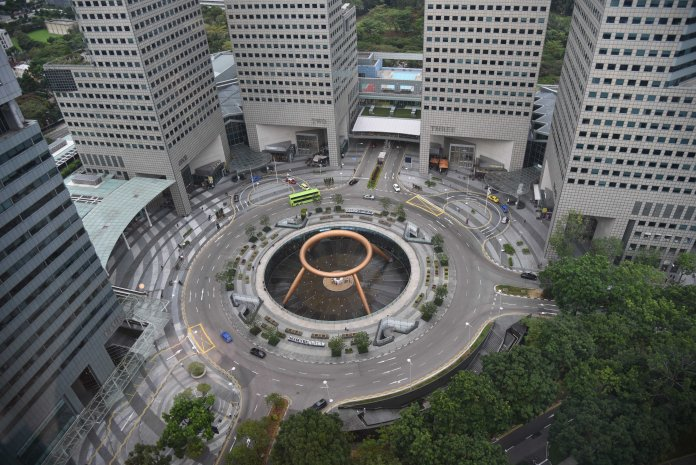 Fountain of Wealth viewed from Level 31