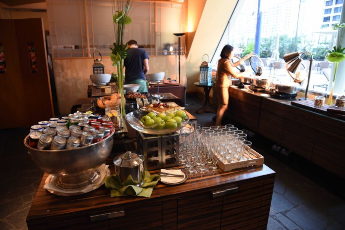 Buffet spread for evening drinks