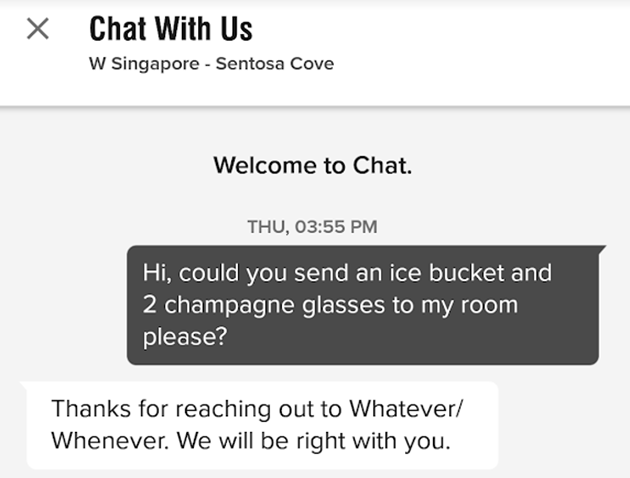 Marriott Bonvoy Chat With Us feature