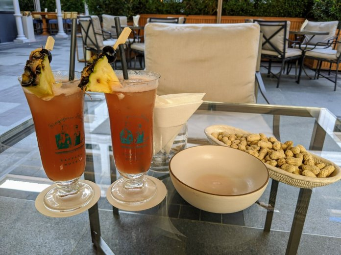Raffles Hotel Welcome Drink- Singapore Sling