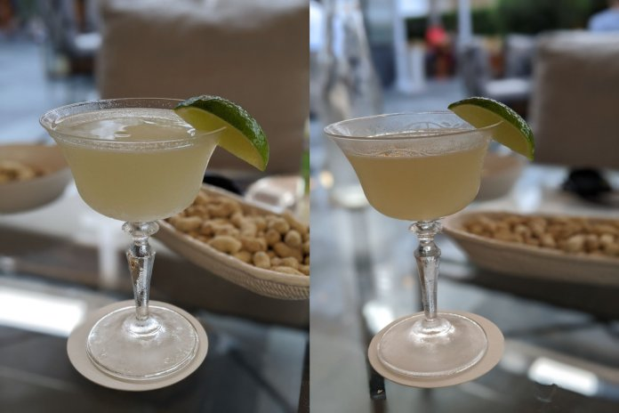 Happy hour drinks at Raffles Courtyard