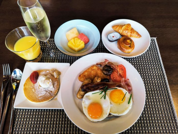 Breakfast at Edge, Pan Pacific. Looks nicer than it tastes