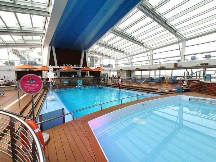Quantum of the Seas indoor swimming pool